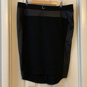 Mossimo faux leather midi pencil skirt black xxl